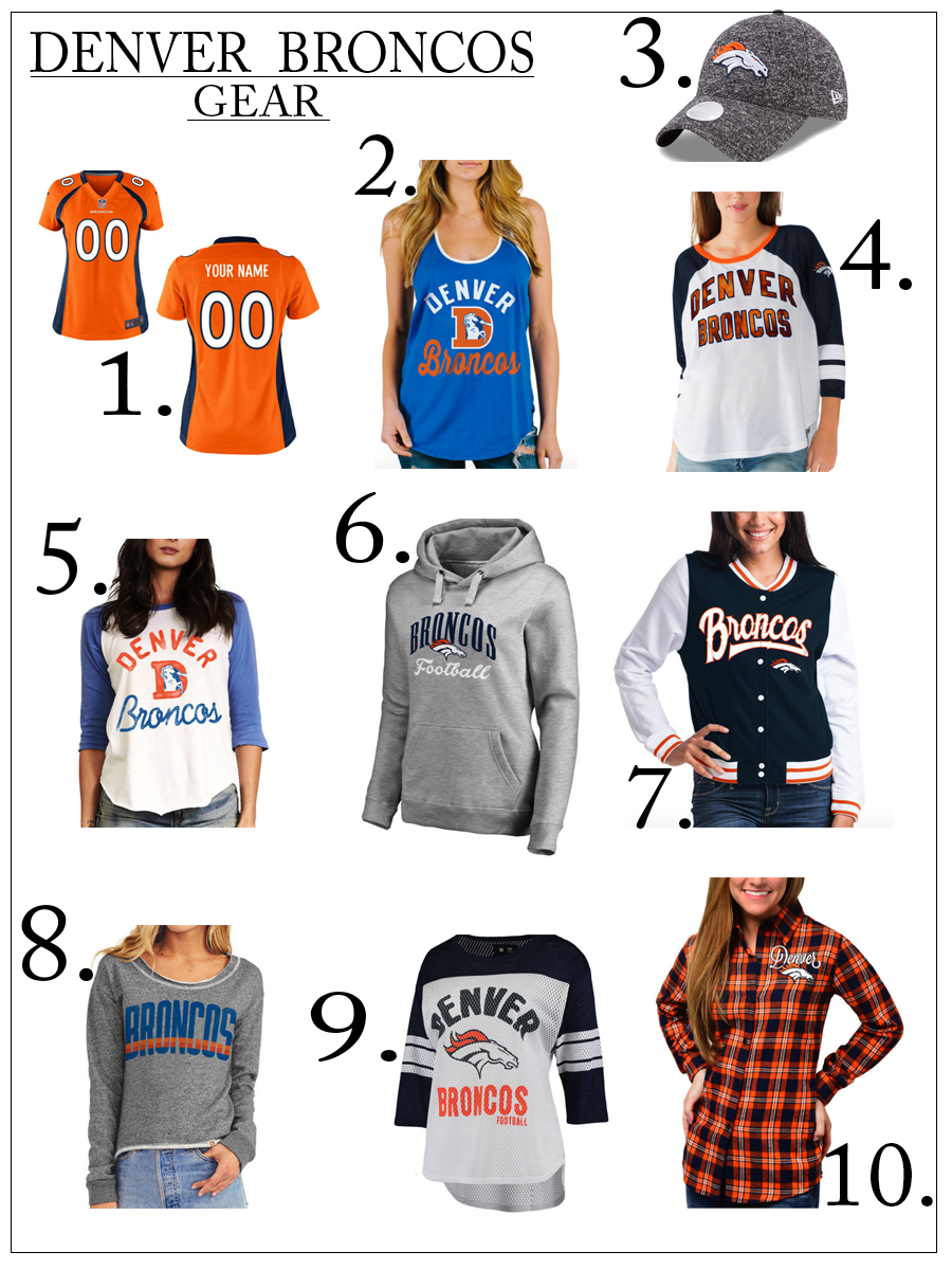 wholesale dealer 8ba7f f2c8b HOW TO STYLE YOUR DENVER BRONCOS GEAR THIS SEASON | CHIC ...