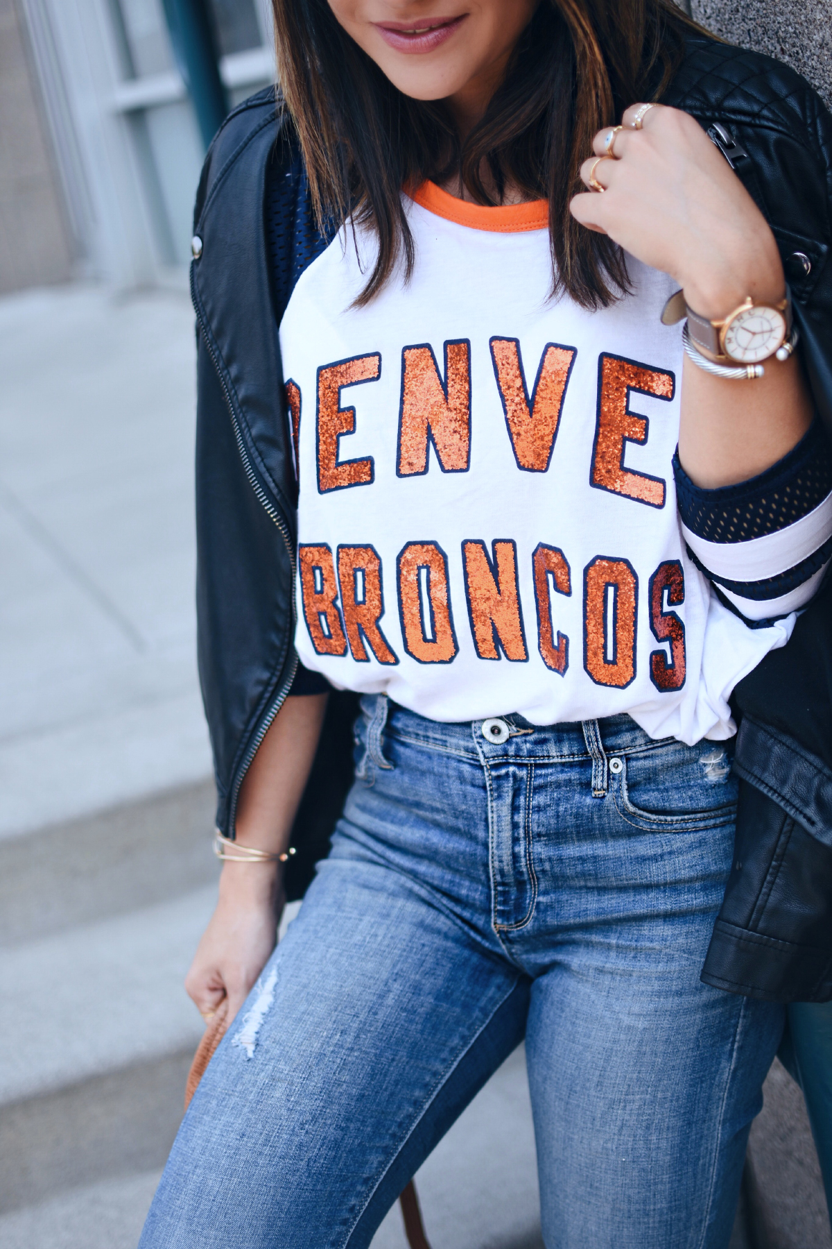 390e5b5b HOW TO STYLE YOUR DENVER BRONCOS GEAR THIS SEASON | CHIC TALK | CHIC ...
